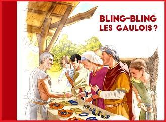 Affiche bling bling les gaulois detail