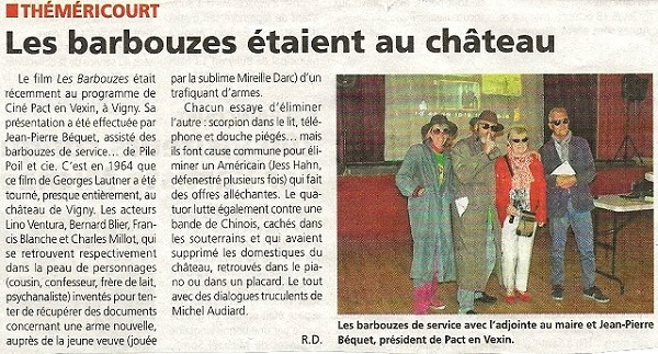 Article gazette les barbouzes
