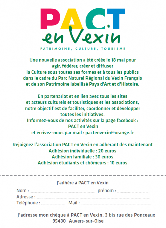 Bulletin d adhesion a pact en vexin
